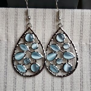 New Earrings Light Blue Moonstone